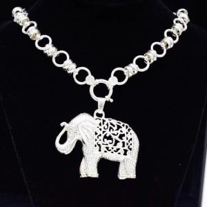 Elefante Grande con Cadena de Plata