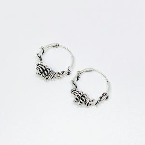 Aros bali 13mm de plata 925