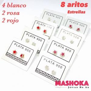 PROMO 8 Aritos Estrellas