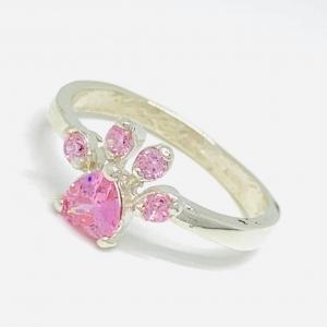 Anillo Pata con piedras Rosa de Plata 925