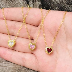 Conjunto Cadena - Susanita corazon con Baño de Oro